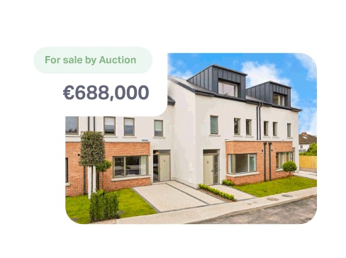 Property for sale on the estate agent's site via auction with a guide price of €688,000.