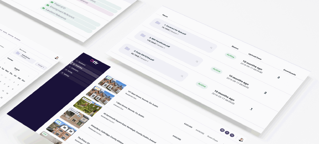 https://cdn.offr.ioView of the various agent dashboard pages and the comprehensive admin system integrated into the Offr estate agent software.