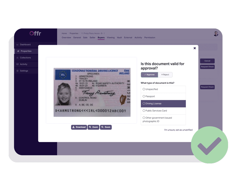 KYC documents allow estate agents to quickly identify the most attractive bidder for their client