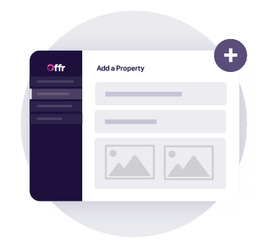 https://cdn.offr.ioAn agent setting up a property to rent on their Offr account.
