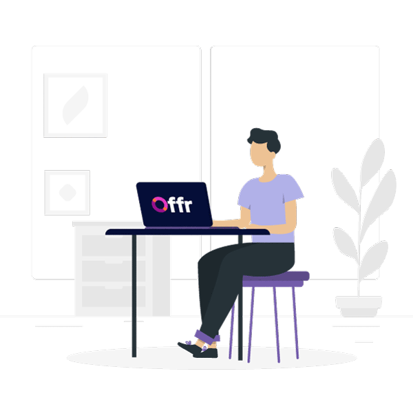 complete a demo of the offr system from the comfort of your home to see how the platform can benefit your business