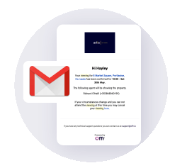 receive and respond to property enquiries directly to your email inbox