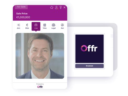 ospita un'asta online dal tuo sito web e falla vedere in streaming live ai partecipanti per creare un'esperienza personalizzata