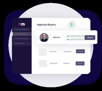 Una volta che l'acquirente si è registrato, l'agente dà accesso alla trasmissione all'acquirente approvando i suoi documenti.