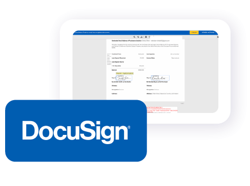 A solicitor sitting at their desk using Offr's software to excute contracts via docusign.