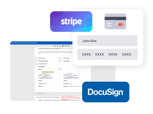 Stripe and DocuSign are used to ensure the secure sale of new homes