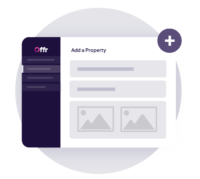 https://cdn.offr.ioAn agent setting up a property to be sold by private treaty on Offr's online platform.