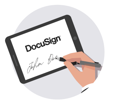https://cdn.offr.ioSigning a contract in a secure online process via Docusign.