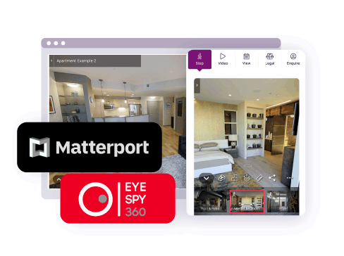 companies such as matterport and eye-spy 360 can integrate with the offr platform to allow buyers to view the property