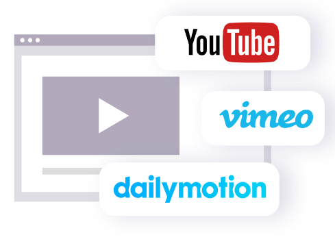 Integrate YouTube, Vimeo, Dailymotion or any shareable video links to the system to help engage prospects